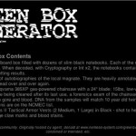 Green-Box-Generator