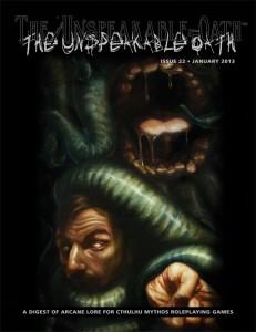 The Unspeakable Oath 22 cover by Matt Hansen