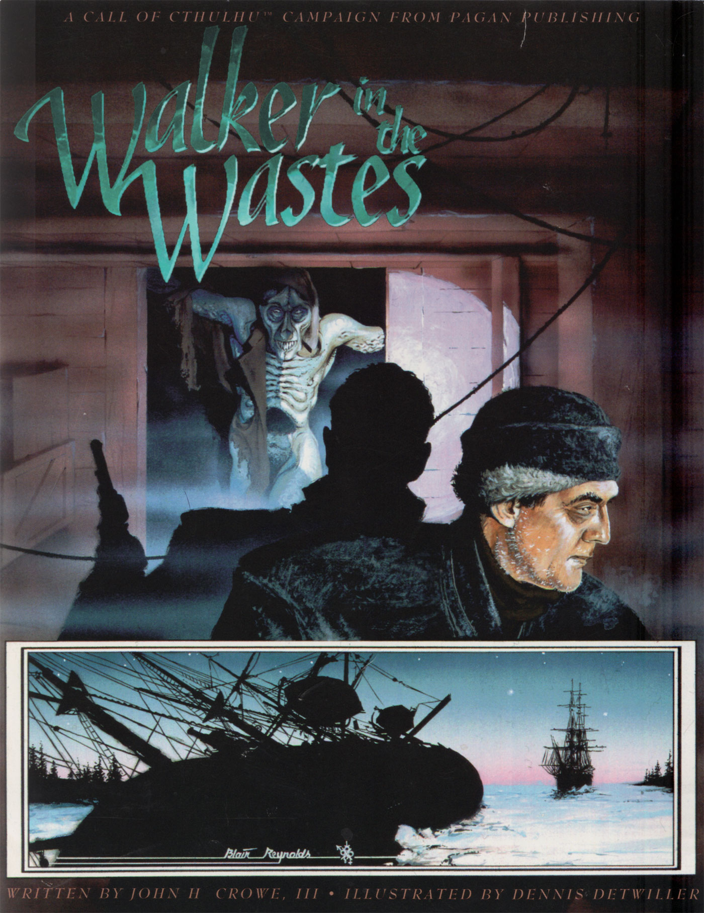 Walker in the Wastes by John H. Crowe III, cover by Blair Reynolds, © 1994